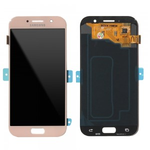 """Samsung Galaxy A5 2017 A520 - Full Front LCD Digitizer Pink """" Service Pack """""""