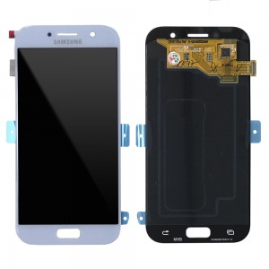 """Samsung Galaxy A5 2017 A520 - Full Front LCD Digitizer Blue """" Service Pack """""""