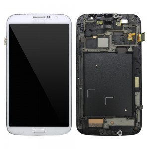 Samsung Galaxy Mega 6.3 I9200 - Full Front LCD Digitizer With Frame White