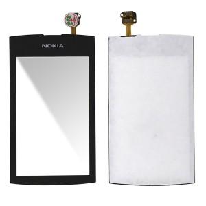 Nokia Asha 306 - Front Glass Digitizer Black