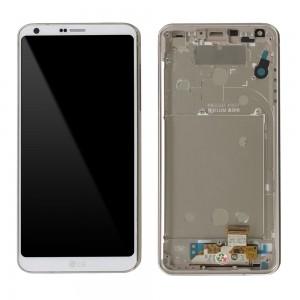 LG Optimus G6 H870 - Full Front LCD Digitizer with Frame White