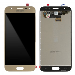 """Samsung Galaxy J3 2017 J330 - Full Front LCD Digitizer Gold """" Service Pack """""""