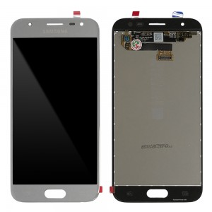 """Samsung Galaxy J3 2017 J330 - Full Front LCD Digitizer Silver """" Service Pack """""""