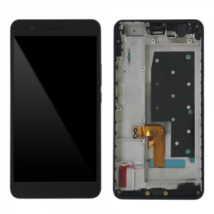Huawei Honor 6 Plus - Full Front LCD Digitizer with Frame Black