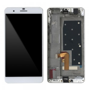 Huawei Honor 6 Plus - Full Front LCD Digitizer with Frame White