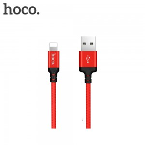 HOCO - Lightning Times Speed Charging Cable X14 100cm Red