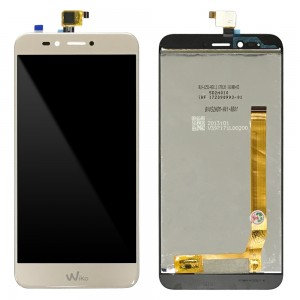 Wiko U Pulse Lite - Full Front LCD Digitizer Gold