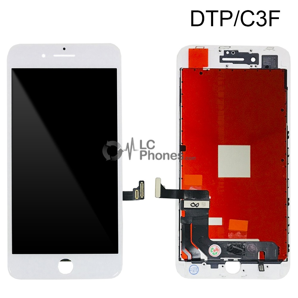 iPhone 8 Plus - LCD Digitizer (Original Remaded) White (Comp. DTP/C3F)