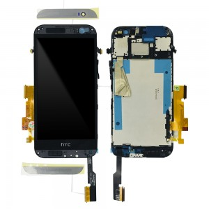 HTC ONE M8s - Full Front LCD Digitizer with Frame Black