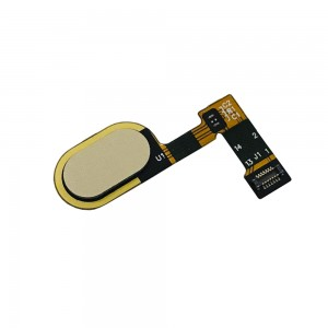 Motorola E4 Plus - Home Button Flex Cable Gold