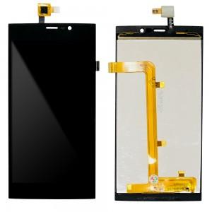 Wiko Ridge Fab 4G - Full Front LCD Digitizer Black 15-22271-51274