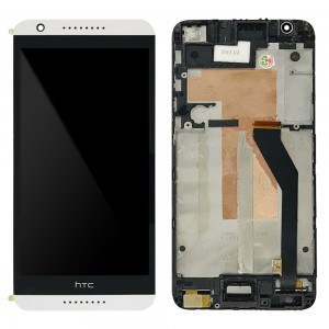 HTC Desire 820 - Full Front LCD Digitizer With Frame White