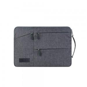 WiWU - Pocket Sleeve with Multi-Pockets for 15.6 inch Grey