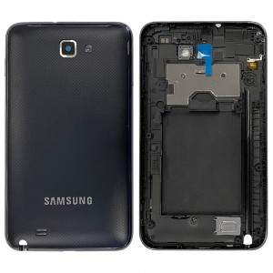 Samsung Note 1 N7000 - Chassi Traseiro + Tampa De Bateria Preta