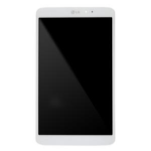 LG G Pad 8.3 V500 - Full Front LCD Digitizer White with Frame
