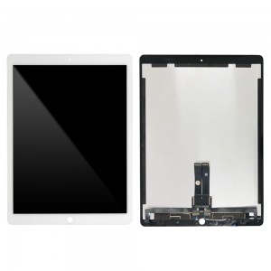 iPad Pro 12.9 2nd Gen - Full Front LCD Digitizer with Plate White