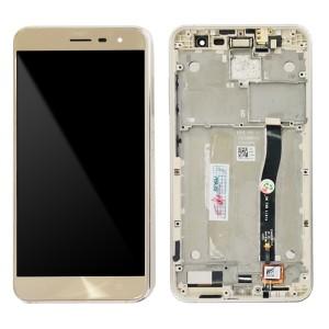 Asus Zenfone 3 ZE552KL - OEM Full Front LCD Digitizer With Frame Gold