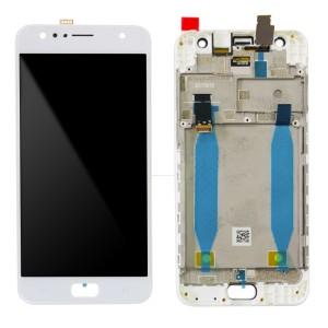 Asus Zenfone 4 Selfie ZD553KL - Full Front LCD Digitizer with Frame White
