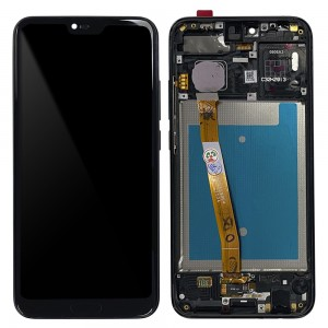 Huawei Honor 10 - Full Front LCD Digitizer with Frame Black