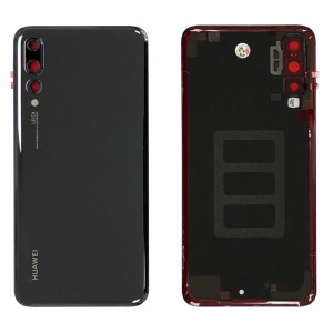 Huawei P20 Pro - OEM Battery Cover Black With Camera Lens