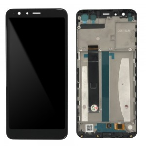 Asus Zenfone Max Plus (M1) ZB570TL - Full Front LCD Digitizer with Frame Black