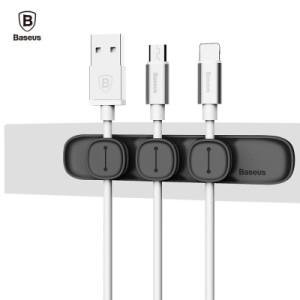 Baseus - Magnet Peas Cable Clip Black