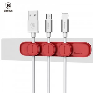 Baseus - Magenet Peas Cable Clip Red