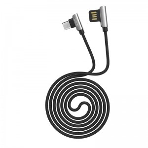 HOCO - 90 Degrees Exquisite Steel Charging / Data Cable for Micro USB Connector U42 120cm