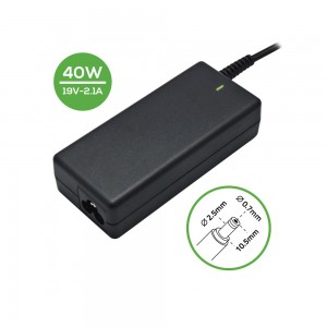 Laptop Charger - AC Adapter Power Supply 19V-2.1A-2.5*0.7