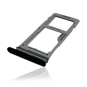 Samsung Galaxy S9 G960 / S9 Plus Duos G965 - Sim 1 & Sim 2 / SD Card Tray Holder Black