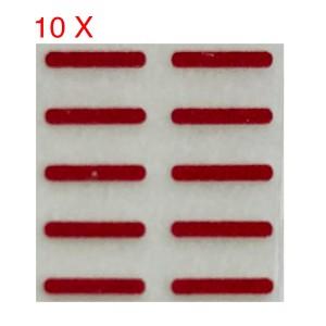 iPhone X - LCD Display Waterproof Red Sticker 10x