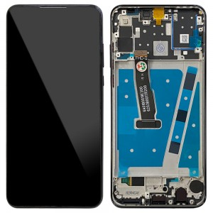 Huawei P30 Lite - Full Front LCD Digitizer with Frame Midnight Black (Version 24MP)