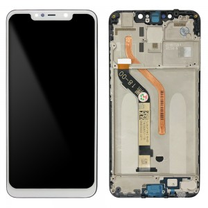 Xiaomi Pocophone F1 - Full Front LCD Digitizer With Frame White