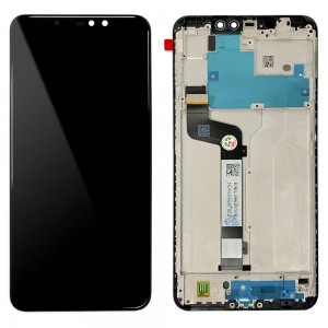 Xiaomi Redmi Note 6 Pro - Fulll Front LCD Digitizer With Frame Black