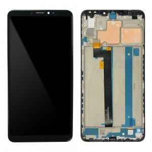 Xiaomi Mi Max 3 - Full Front LCD Digitizer with Frame Black