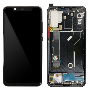 Xiaomi Mi 8 - Full Front LCD Digitizer with Frame Black
