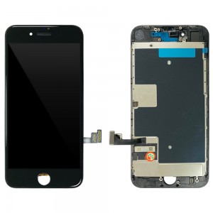 iPhone 8 - LCD Digitizer Black with Plates EBS