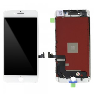 iPhone 8 Plus - LCD Digitizer White EBS