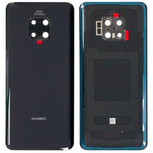Huawei Mate 20 Pro - OEM Battery Cover Black with Camera Lens & Adhesive