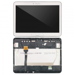 Samsung Galaxy Tab 4 10.1 T530 - Full Front LCD Digitizer with frame White