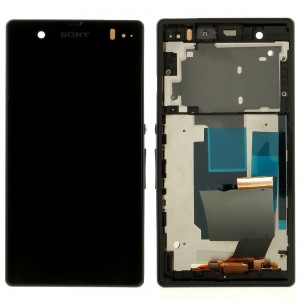 Sony Xperia Z L36H C6603 - Full Front LCD Digitizer OEM With Frame Black