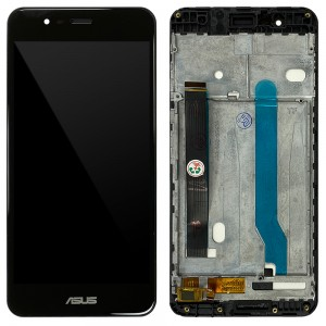 Asus Zenfone 3 Max ZC520TL - Full Front LCD Digitizer with Frame Black