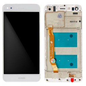 Huawei Ascend P9 Lite mini / Y6 Pro 2017 - Full Front LCD Digitizer with Frame White