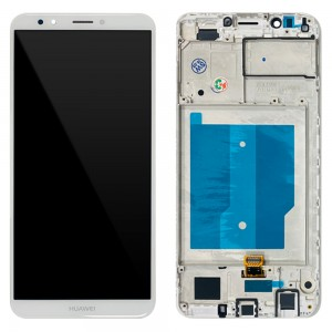 Huawei  Y7 (2018) / Y7 Prime (2018) / Nova 2 Lite - Full Front LCD Digitizer with Frame White