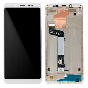 Xiaomi Redmi Note 5 / Note 5 Pro - Full Front LCD Digitizer with Frame White