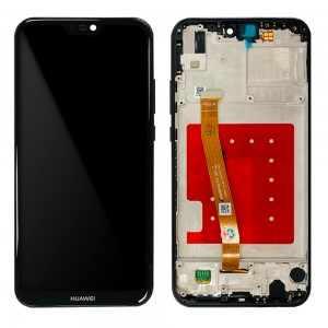 Huawei P20 Lite - Full Front LCD Digitizer with Frame Black