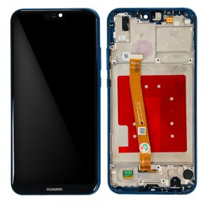 Huawei P20 Lite - Full Front LCD Digitizer with Frame Blue
