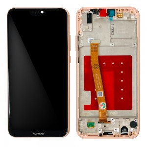Huawei P20 Lite - Full Front LCD Digitizer with Frame Pink