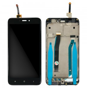 Xiaomi Redmi 4X - Full Front LCD Digitizer with Frame Black