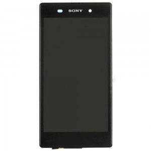 Sony Xperia Z1 L39H - Full Front LCD Digitizer OEM With LCD Frame Black